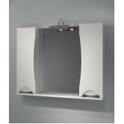 Шкаф зеркальный Каприз Белый 105 без подсветки